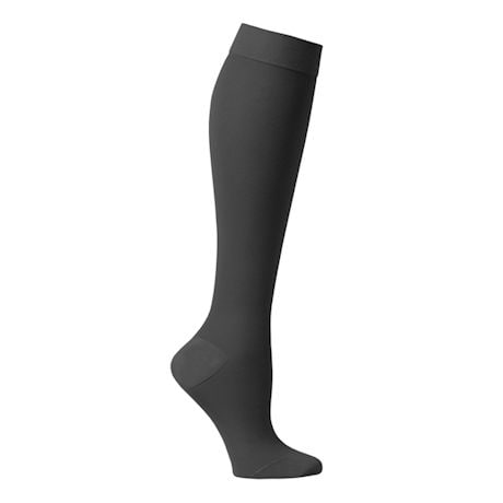 Support Plus® Womens Opaque Closed Toe Petite Height Firm Compression Knee High Stockings