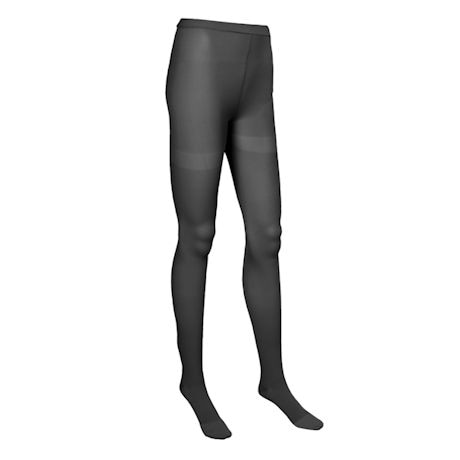 Support Plus® Womens Opaque Closed To Petite Height Firm Compression Pantyhose