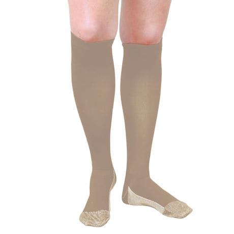 Support Plus®  Women's Opaque Moderate Compression Knee High Socks with Copper Fibers