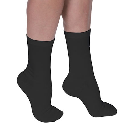 Support Plus® Coolmax Unisex Opaque Firm Compression Crew Socks