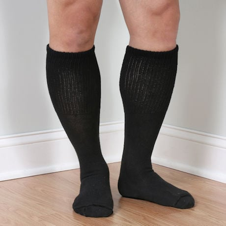 Men's Extra Wide Calf Diabetic Knee High Socks