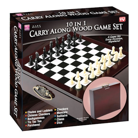 10-in-1 Wood Game Set