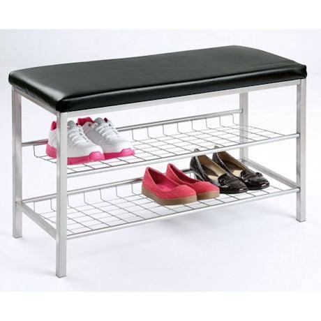 2-Tier Metal Shoe Bench