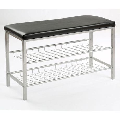 2-Tier Metal Shoe Bench