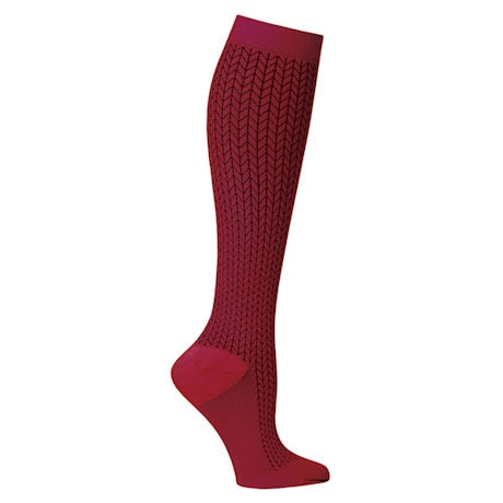 Support Plus® Unisex Moderate Compression Knee High Socks - Chevron