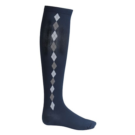 Support Plus® Unisex Moderate Compression Knee High Socks - Argyle