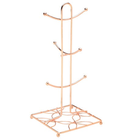 Bright Copper Mug Rack