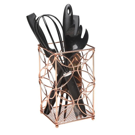 Bright Copper Cutlery Holder