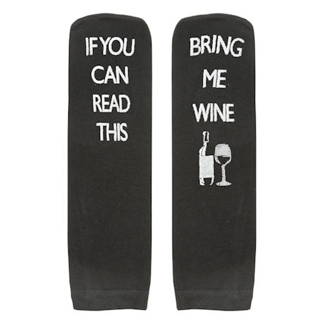 Unisex Bariatric Message Socks - Set of 3 - Black