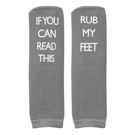 Unisex Bariatric Message Socks - Set of 3 - Grey