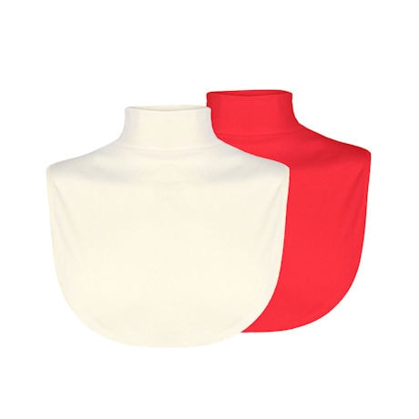 Mock Turtleneck Dickeys Set of 2 (Red & Beige)