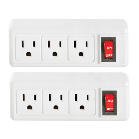 3-Plug Outlet Switch Set
