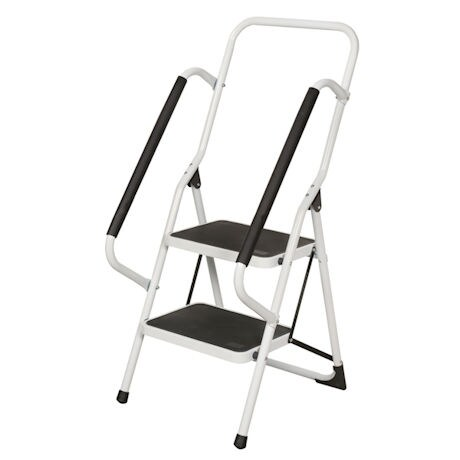 Support Plus® Folding 2 Step Ladder with Handrails