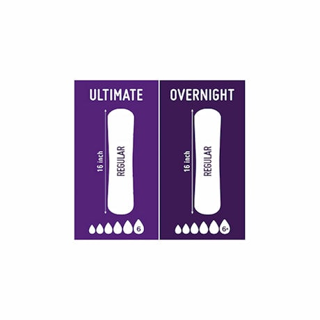 Prevail® Overnight Pad - Bag of 30
