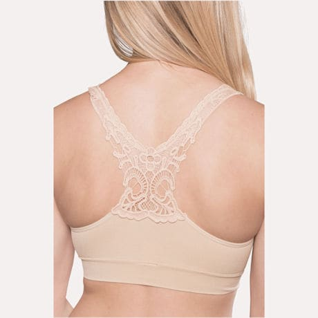Seamless Butterfly Lace Bra