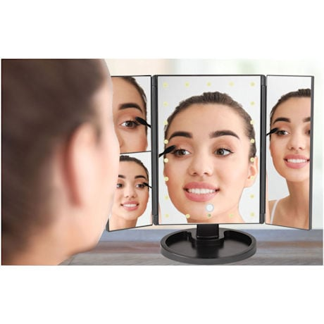 2X/3X Magnifying LED Makeup Mirror