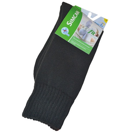 Simcan® LEGfit Unisex Wide Calf Diabetic Crew Socks