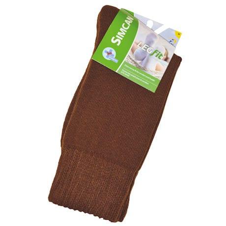 Simcan® LEGfit Unisex Wide Calf Diabetic Crew Socks