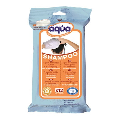 Aqua No Rinse Shampoo Gloves