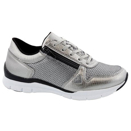 Footsaver® Lattice Side Zip Athletic Shoe