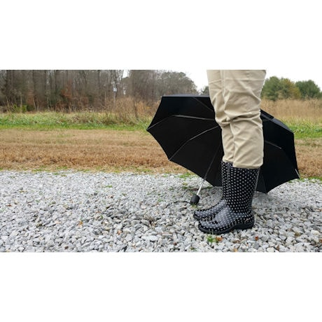 "Polka Dot Slogger 10"" Waterproof Rain Boot"
