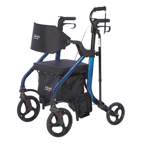 Deluxe Rollator and Transport Chair