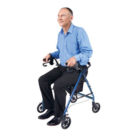 Rollator with Padded Seat