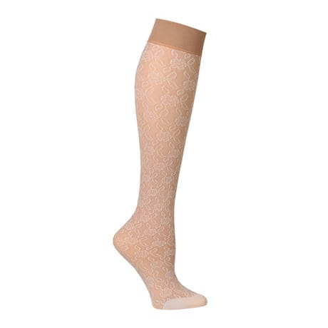 Celeste Stein Women's Regular Calf Mild Compression Lace Socks
