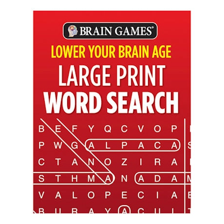 Brain Games® - Lower Your Brain Age Word Search Books