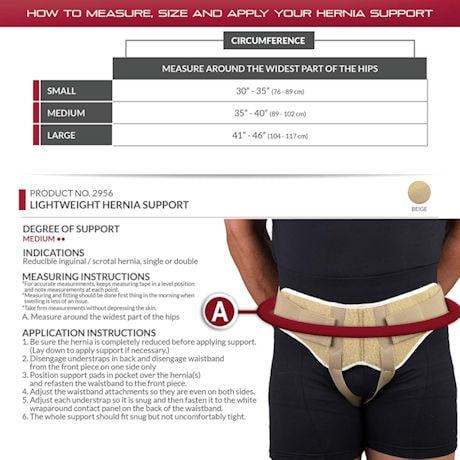 Lightweight Hernia Support