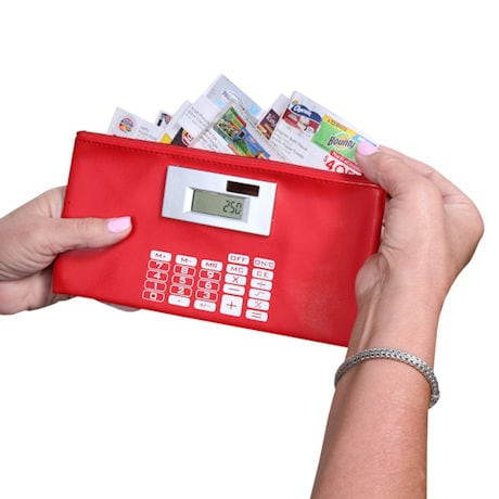 Coupon Pouch with Calculator