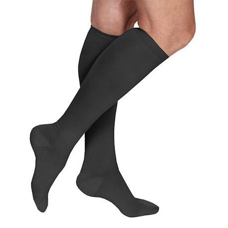 Support Plus® Women's Microfiber Wide Calf Moderate Compression Knee High Socks