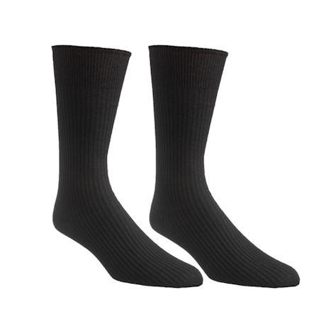 Unisex Diabetic Crew Length Dress Socks