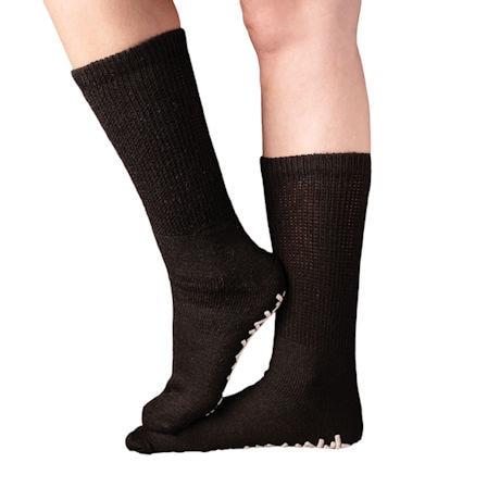 Unisex Diabetic Crew Length Non-Skid Socks