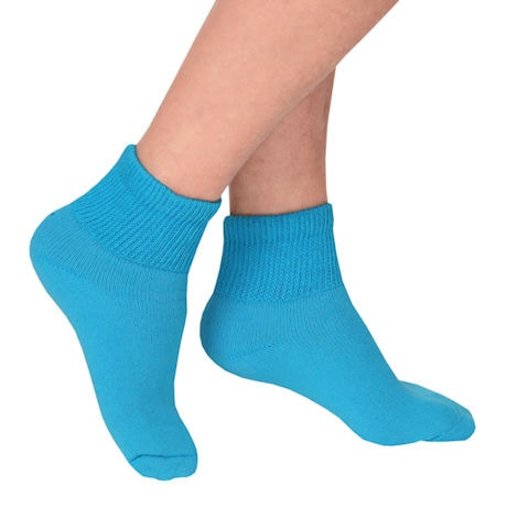 Women's Loose Top Quarter Crew Length Socks - 3 pack