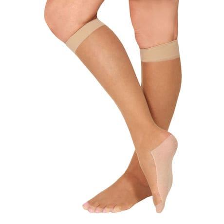 Women's Light Compression Cotton Sole Knee-Highs