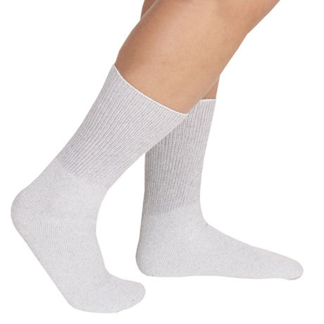 Unisex Diabetic Health Crew Length Socks - 3 Pack