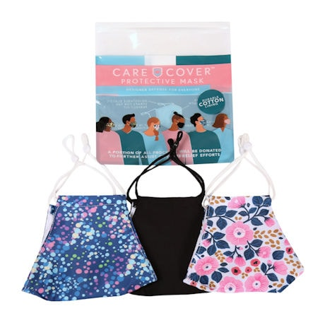 Care Cover Protective Face Masks - Set of 3