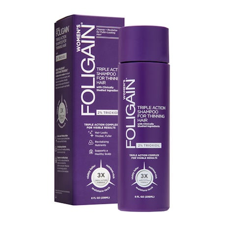 Foligain® for Thinning Hair Shampoo, Conditioner, Targeted Treatment Spray