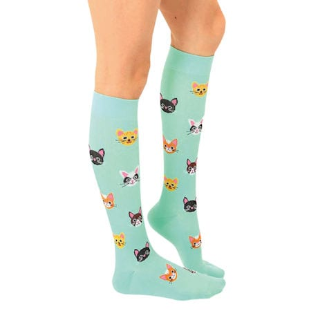 Women's Patterned Moderate Compression Knee High Socks