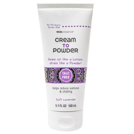 Cream to Powder Wetness Friction and Chafing Prevention