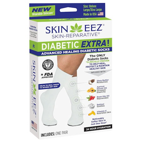 Skineez® Unisex Advanced Healing Diabetic Knee High Socks