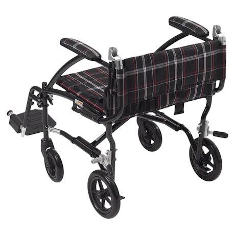 Plaid Transport Chair