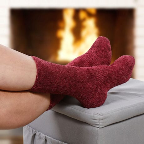 TrueEnergy® Unisex Crew Length Cozy Socks
