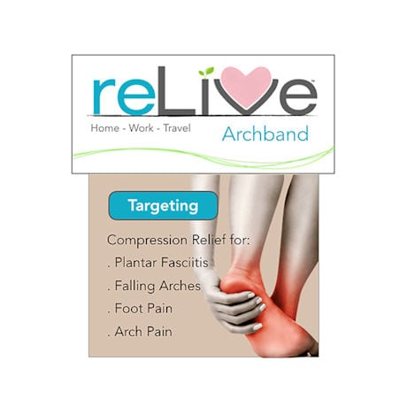 reLive® Archband Arch Support Sleeves - 1 Pair