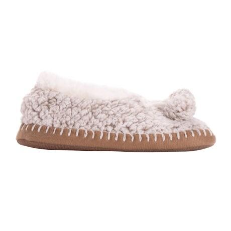Muk Luks® Frosted Sherpa Ballerina Slipper