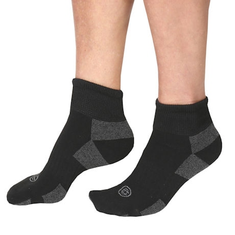 Doctor's Choice® Unisex Sore Toe Crew & Quarter Crew Length Socks - 2 Pairs