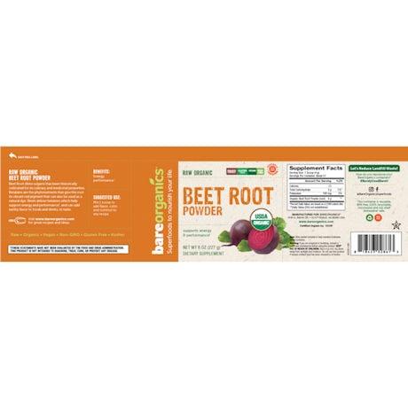 BareOrganics Beet Root Powder