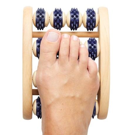 Wood Foot Roller Massager