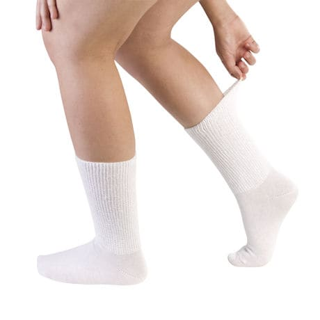 Full Freedom Women's Diabetic Poor Circluation Pressure-Free Crew Length Socks